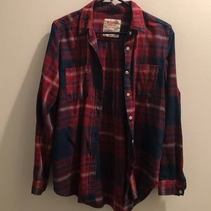 Mossimo Medium Boyfriend Cut Plaid Shirt